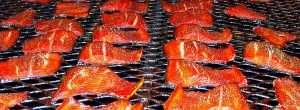 Smoke Salmon on Rack