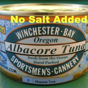 Albacore Tuna 7.5 OZ Can – Wild Troll Caught –   No Salt Added